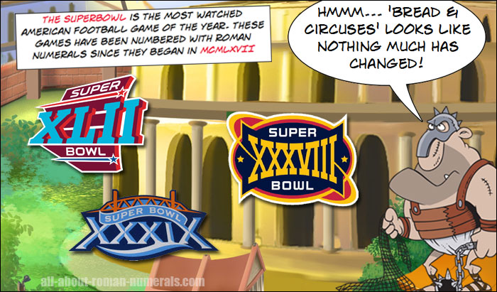 Superbowl Roman Numerals Lesson