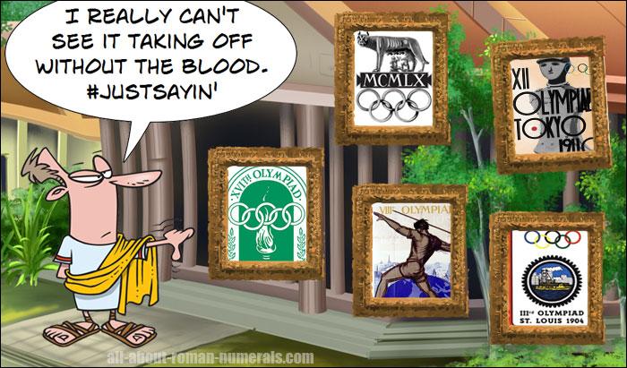 roman numerals olympics