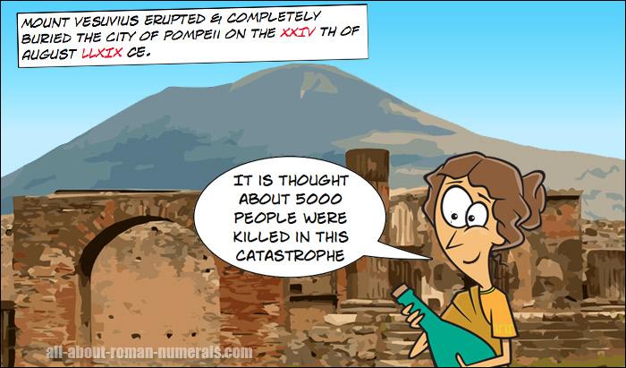 roman numerals Pompeii