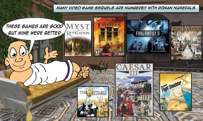 roman numerals & video games